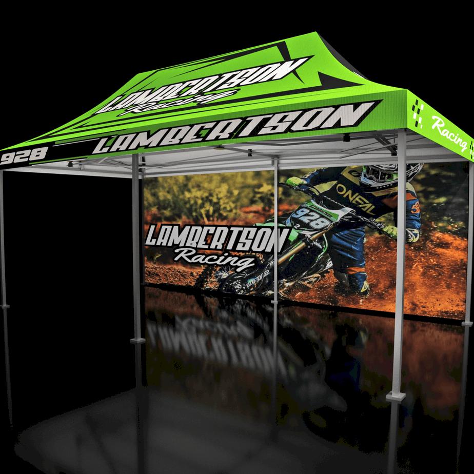 10x20 Custom Motocross MX Racing Tent