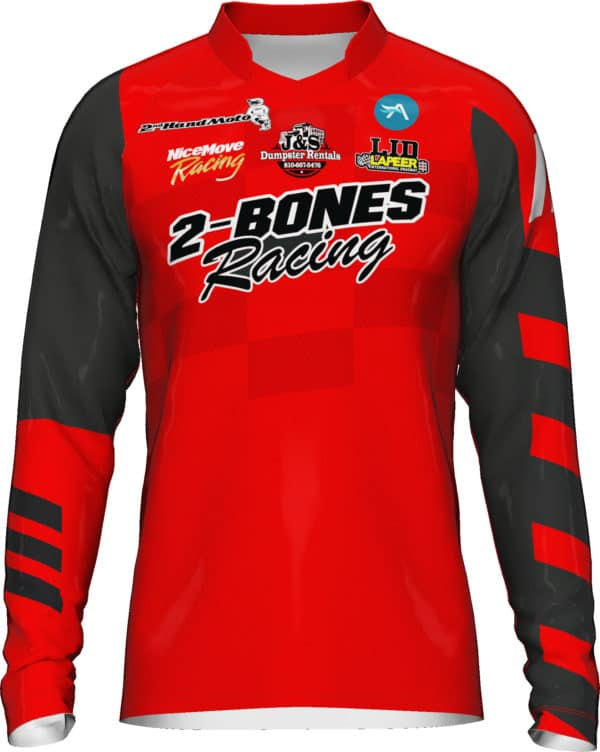 Personalize your mx jersey with sponsor logos