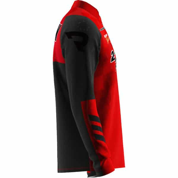 Put your logo and team name on the sleeve of your motocross mx jersey